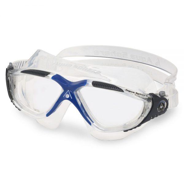 מסכת שחייה VISTA AQUASPHERE - שקופות, שקוף/אפור/כחול