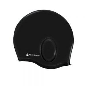 כובע שחייה aqua glide שחור